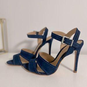 Schutz Gwen Sandal - 7.5 / Sailfish Blue / Nubuck